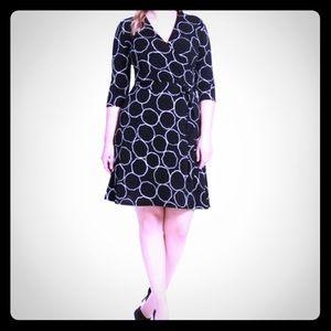Leota bubble print faux wrap dress